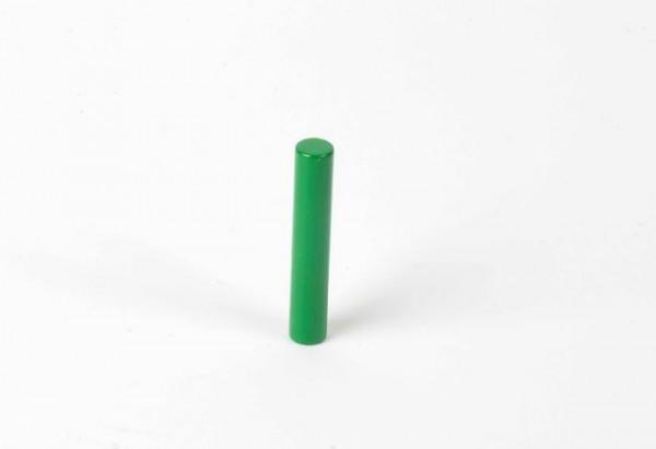 Farbige Zylinder - 1. grüner Zylinder