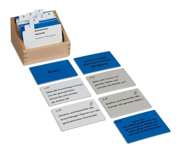 Kasten mit Aufgabenkarten für die Geometrische Kommode Nienhuis