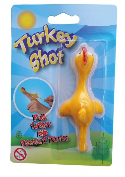 Turkey Shot fliegender Truthahn