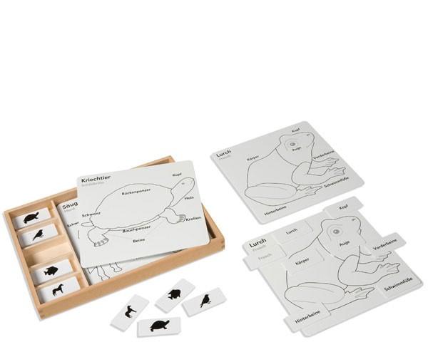 Kontrollkarten für Tierpuzzles