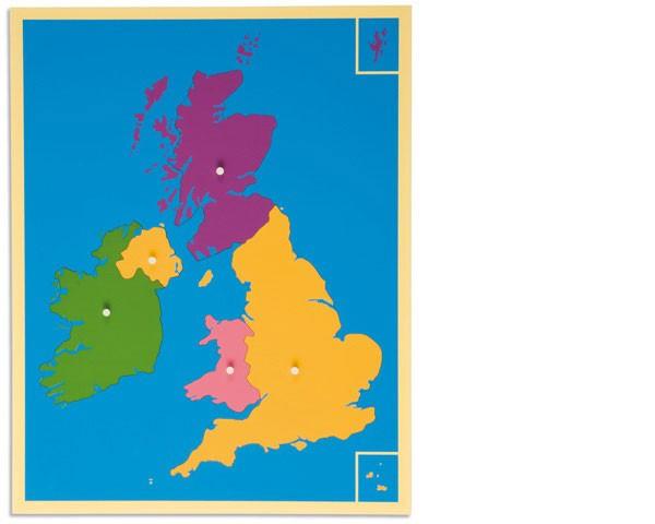 Puzzlekarte Großbritannien