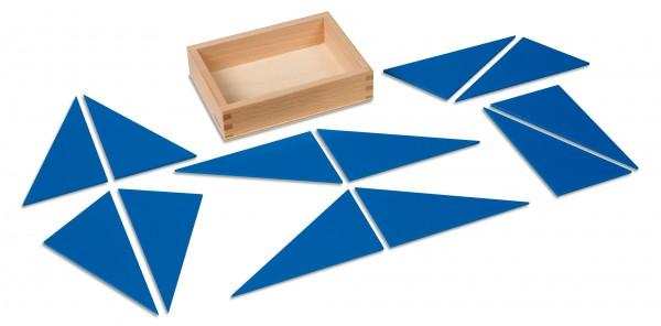 12 blaue Dreiecke