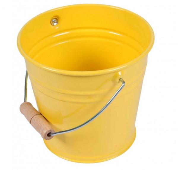Kleiner Metalleimer gelb