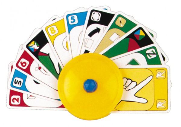 Spielkartenhalter rund
