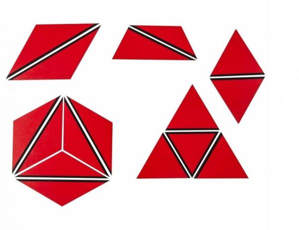 Satz konstruktive Dreiecke rot