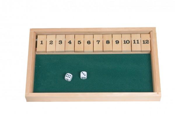 Zahlenklappenspiel bis 12