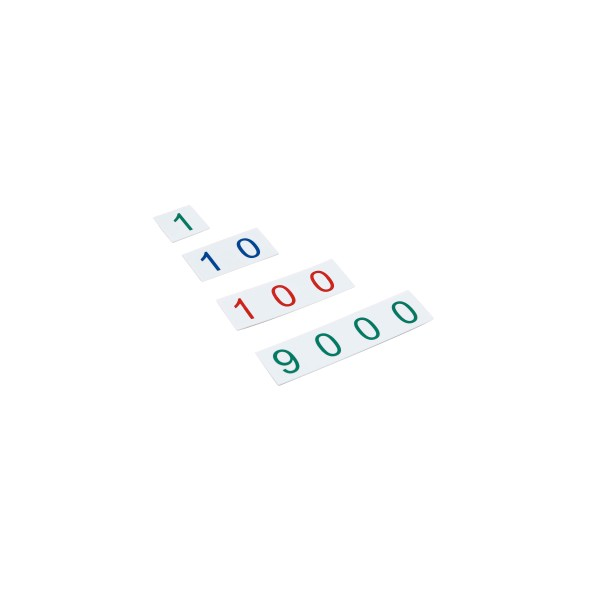 Kleine Zahlenkarten (Kunststoff) Zahlenbereich 1-9000 (GAM)