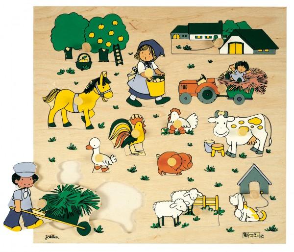 Bauernhof Knöpfepuzzle