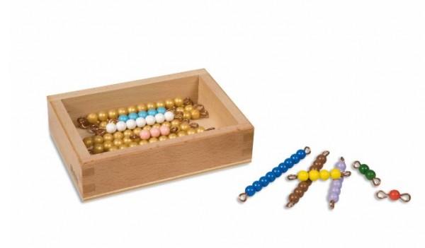 Kasten mit farbiger Perlentreppe (lose Perlen)