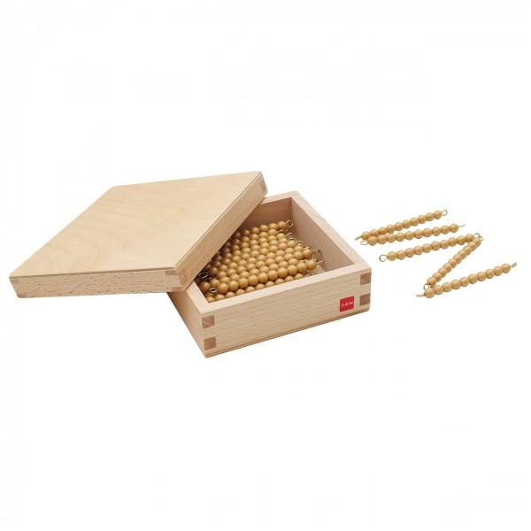 Kasten mit 45 goldenen Zehnerstangen (GAM)