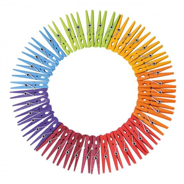 42 Regenbogenwäscheklammern