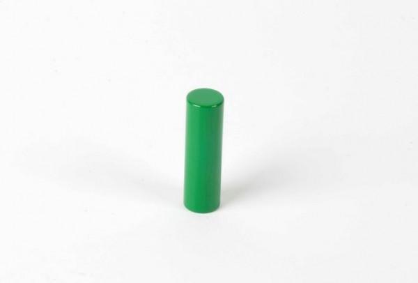 Farbige Zylinder - 2. grüner Zylinder