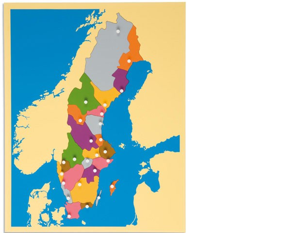 Puzzlekarte Schweden
