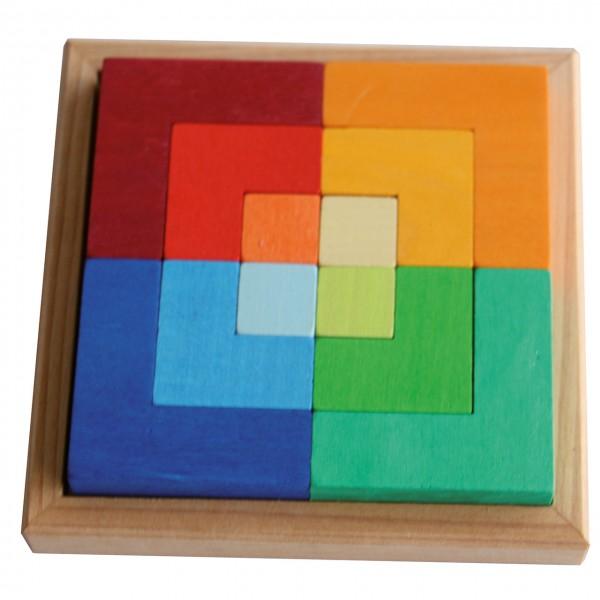 Holzlegespiel Buntes Quadrat