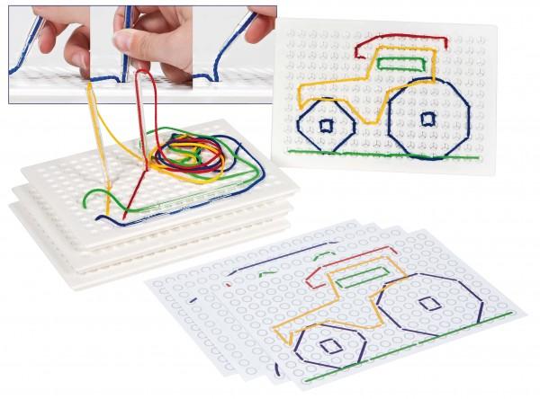 Stickspiel mit sicheren Kunststoffnadeln