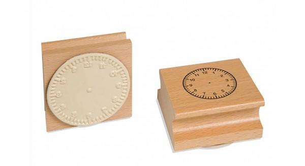 Uhrstempel - arabisch bis 12 Uhr