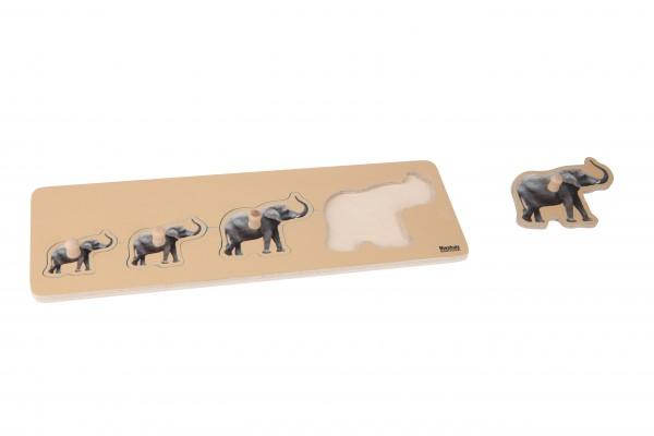 Kleinkind Puzzle 4 Elefanten
