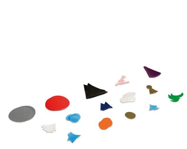 Wortsymbole Ergänzungssatz aus Papier Nienhuis