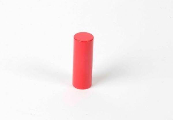 Farbige Zylinder - 3. roter Zylinder