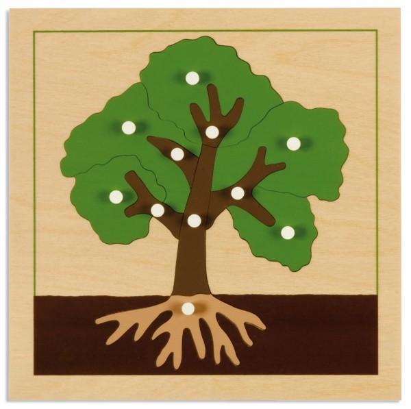 Botanisches Puzzle Baum
