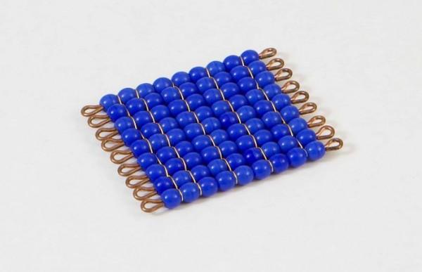 Perlenquadrat von 9 - Lose Perlen, Glas