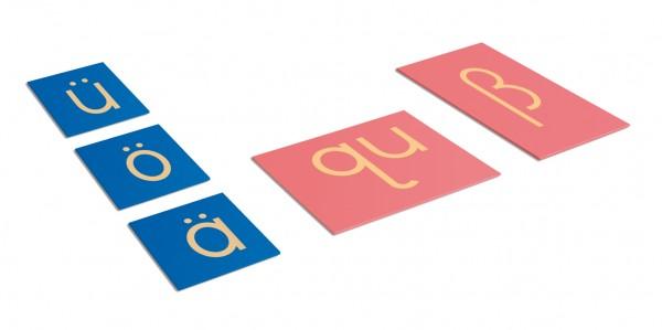 Sandpapierbuchstaben Ergänzung für deutsche Kleinbuchstaben in Druckschrift Nienhuis
