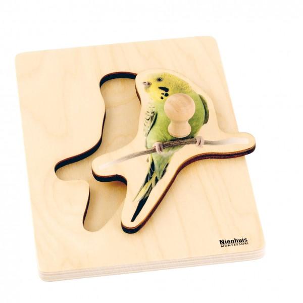 Toddler Puzzle Sittich Steckpuzzle 24,5 x 14,5 cm