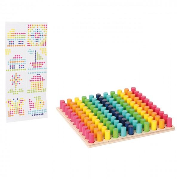 Farbensteckspiel mit Vorlagekarten