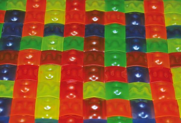 UV-Regenbogen-Matte 100x100 cm