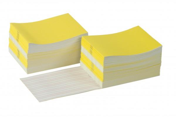 Schreibheftchen groß gelb (100 Stück)