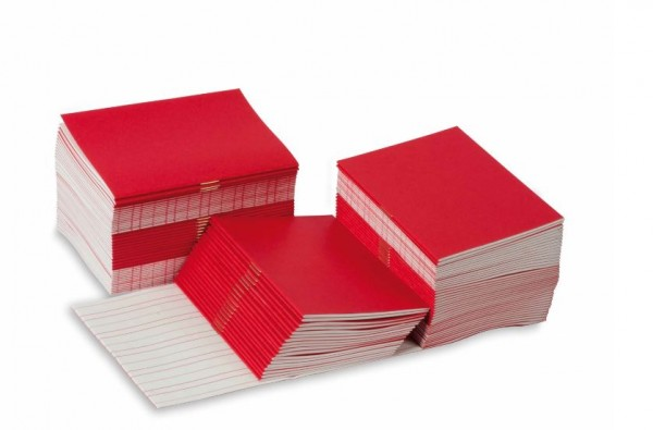 Schreibheftchen klein rot (100 Stück)