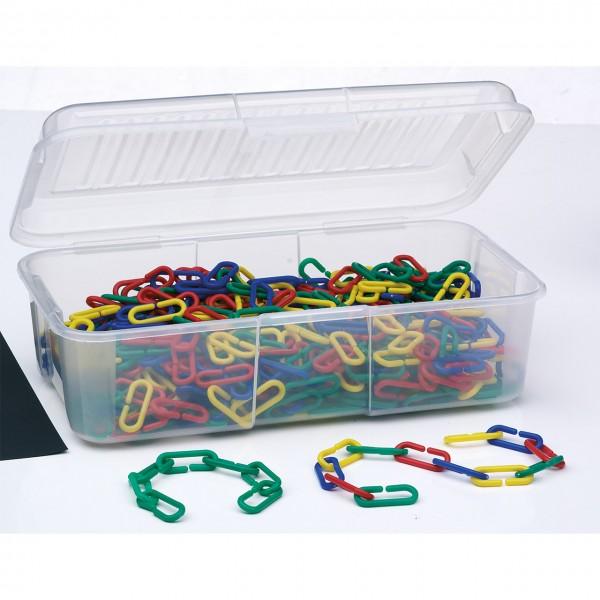 Materialsammlung Kettenglieder in Aufbewahrungsbox