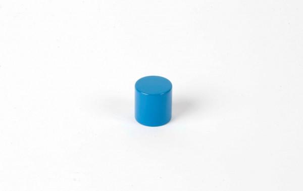 Farbige Zylinder - 4. blauer Zylinder