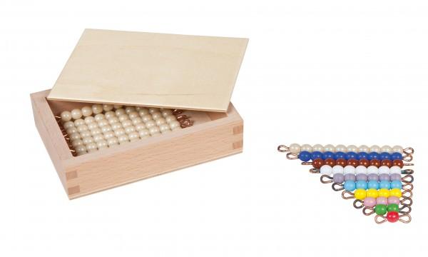 Kasten mit farbiger Perlentreppe (Glasperlen)
