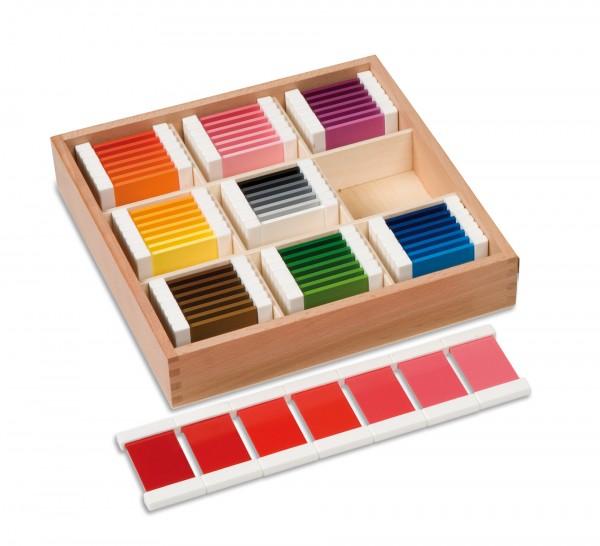 Farbtäfelchen Schattierungskasten mit 9 Farben