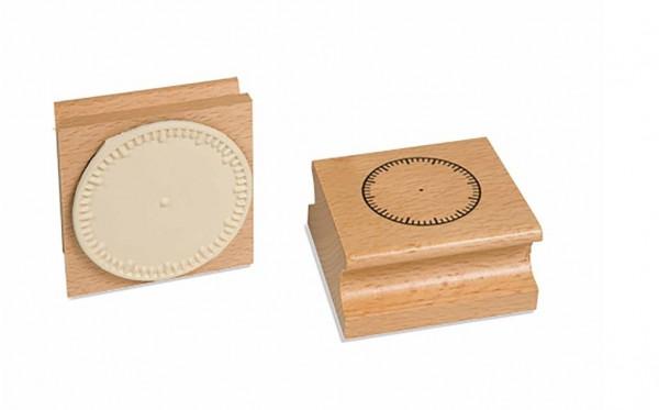 Uhrstempel - ohne Ziffern