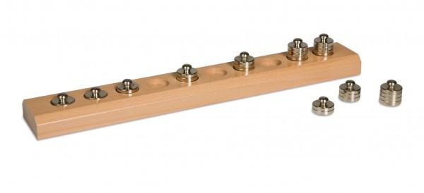 Holzblock mit kleinen Gewichten Nienhuis