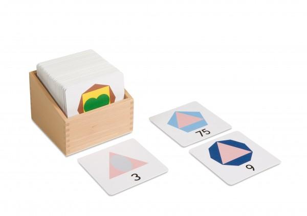 Kasten mit großen Zahlenkarten aus Kunststoff