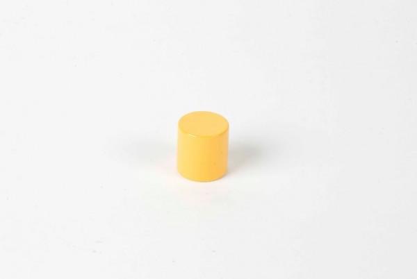 Farbige Zylinder - 4. gelber Zylinder