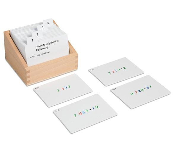 Kasten m. Aufgabenkarten für das Große Multiplikationsbrett