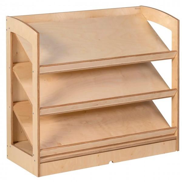Bücherschrank mit 3 schrägen Böden