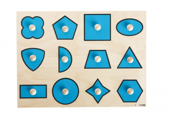 Verschiedene geometrische Formen Knöpfepuzzle