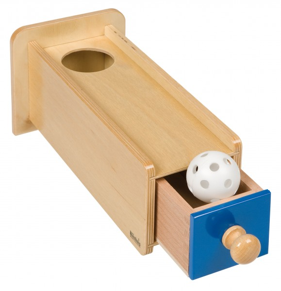 Holzkasten mit Schublade