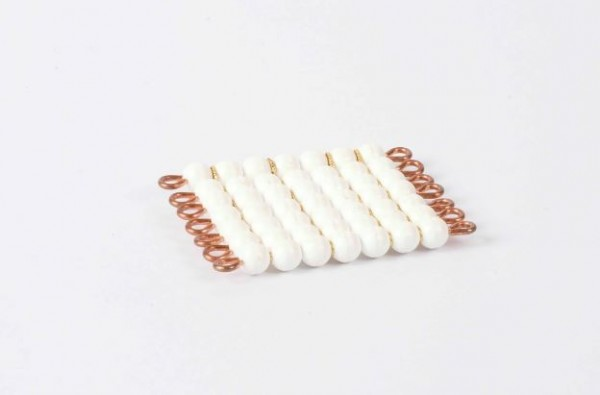 Perlenquadrat von 7 - Lose Perlen, Kunststoff