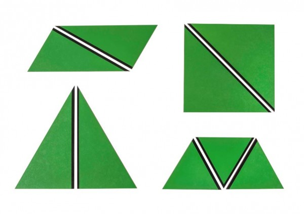 Satz konstructive Dreiecke grün Nienhuis