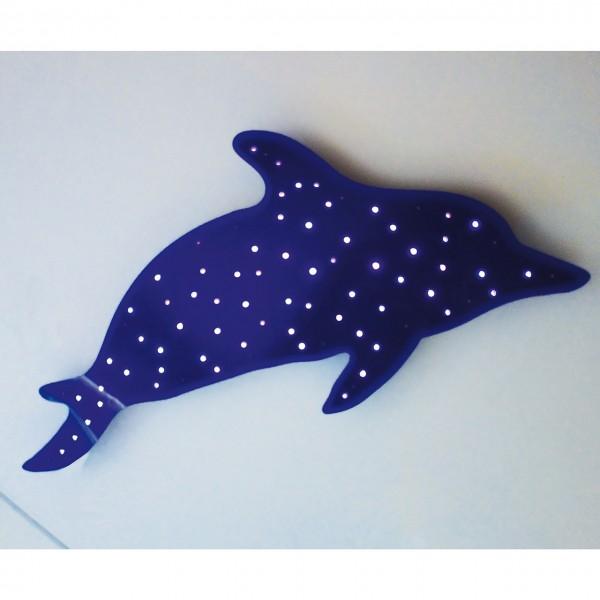 Deckenlampe Delfin Max (Lichtfaserfarbspiel)