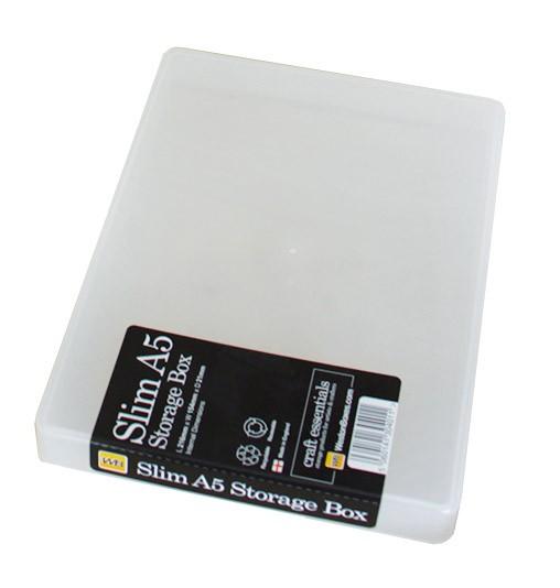 Kunststoffbox mit Deckel A5 slim
