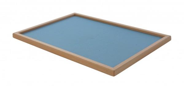 Holztablett mit blauem Stoffbezug - Wolkenbrett