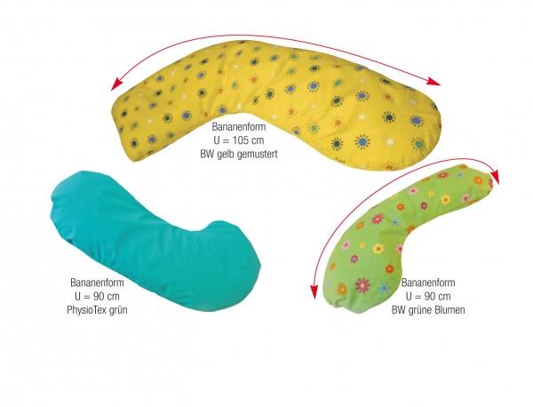 Bananenform Lagerungskissen