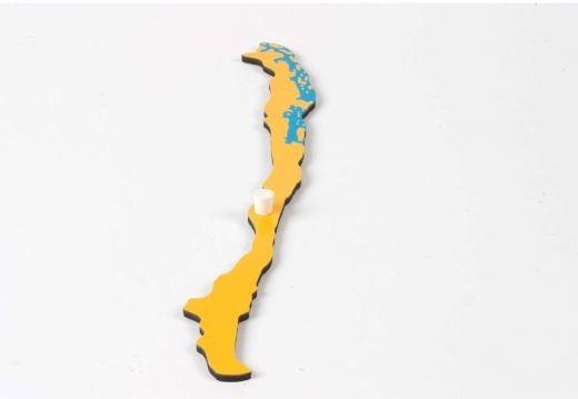 Puzzlekarte Südamerika - Chile